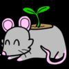 Ceramic Mouse Planter
