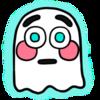 Flushed Emoji Ghost