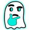 Thinking Emoji Ghost